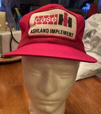 Vintage Case IH Patch Mesh Ashland Implement Farm Snapback Trucker Hat Cap K Pro
