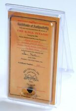 RMS TITANIC 100TH ANNIVERSARY EDITION MINI COAL CERTIFICATE OF AUTHENTICITY
