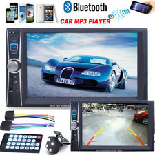 6.6 Double 2 Din Touchscreen In dash Car Stereo Radio Mp3 Player FM Aux   Camera