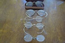 5 PAIRS OF GOLD TONE VINTAGE EYE GLASSES