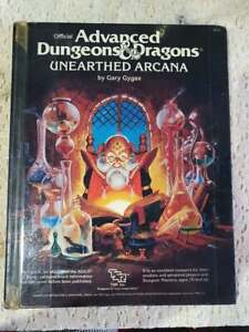 Advanced Dungeons & Dragons Unearthed Arcana 1985 Hardcover