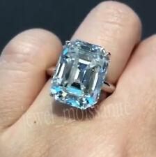 4.27 Ct Near White Emerald Moissanite Engagement Ring 925 Sterling Silver 6.5