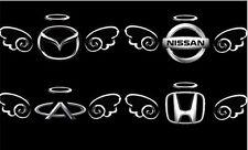 Chrom Aufkleber Auto 3D Engel Angel  Sticker Logo Flügel  3 FARBEN!  NEU