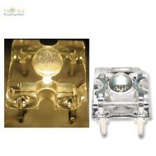 10 LED SuperFlux caliente-Weiss Piranha 3mm LED + accesorios blanco cálido warmwhite White