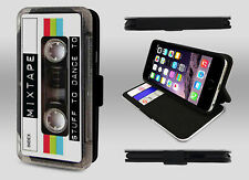 Vintage Cassette Mixtape Stuff To Dance Cool Gadget Wallet Phone Case Flip Cover