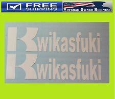 "TWO KWIKASFUKI Kawasaki Vinyl 6"" Decal Sticker Ninja Bike ZX10R ZX6R ZX9R ZX14R"