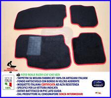 Tappetini per Fiat Grande Punto dal 2005 in poi Bordino rosso Tappeti tessili
