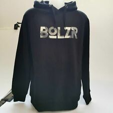 Bolzr Hoodie Pullover Kapuzensweatshirt Schwarz Fleece Herren Gr. L