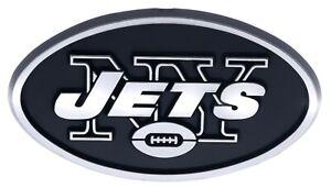 New York Jets NFL Car Truck Automotive Grill Emblem Chrome Finish F3D14B