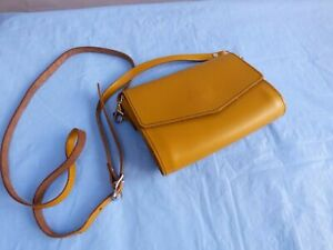 ZATCHELS Mustard Tan Leather Crossbody Bag Shoulder Bag Pochette