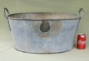 Heavy Duty Galvanised Military H.M.Customs Garden Planter Tin Bath 58cm x 41cm