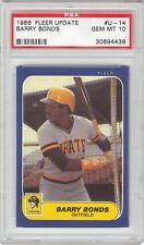 Barry Bonds Pirates Giants 1986 Fleer #U-14 Rookie Card rC PSA 10 Gem Mint QTY