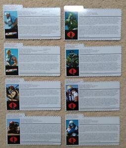 Hasbro GI Joe Operation Flaming Moth Filecards (choose your character)