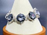BANANA REPUBLIC Chunky Large Smokey Blue Crystal Bracelet
