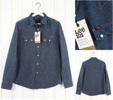 Camicie casual e maglie da uomo blu marca Lee Taglia XL