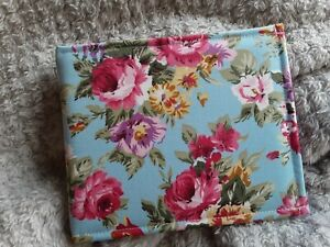 Disabled Blue badge holder wallet cover  retro floral roses  Hologram safe gift