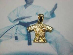 Judo Karate Kimono Jacket pendant made Yellow Gold 18 K- handicraft
