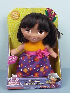 "Dora The Explorer Singing Birthday Dora 12"" Doll Fisher Price English/Spanish"