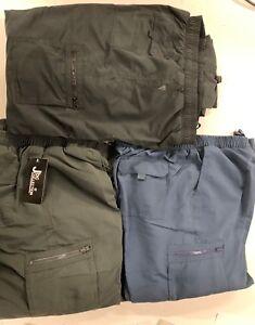 Mens Fleece Lined Winter Thermal Elasticated Work Trousers Cargo Combat Pants