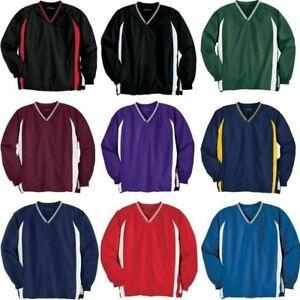 Sport-Tek Mens TALL or S-6XL Golf V-Neck Raglan Baseball Wind Shirt Jacket