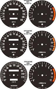 SUZUKI GS550 GS650 KATANA GS750 SPEEDO TACH REV COUNTER GAUGES CLOCKS KIT