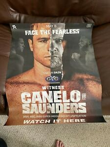 "CANELO ALVAREZ VS BILLY JOE SAUNDERS MAY 8TH 2021 POSTER 28"" x 22"" BRAND NEW"
