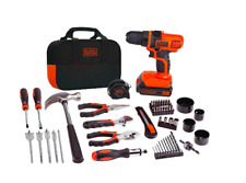 Cordless Drill Machine Project Kit Bag 20-Volt Lithium-Ion Battery Charger Tools