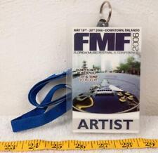 Fmf Florida Music Festival Artist Back Stage Pass 2006 agk