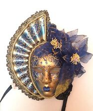 BLUE HAND MADE VENETIAN WALL MASK CARNIVAL MASQUERADE MASKS