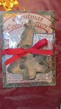 New Brownlow Metal/Tin Xmas Cookie Cutter Tree and Gingerbread Boy w Recipe
