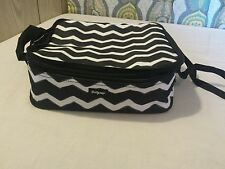 Thirty One chevron perfect potluck thermal food dish keep warm travel carrier
