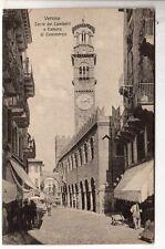 cartolina postcard - VERONA TORRE DEI LAMBERTI E CAMERA DI COMMERCIO