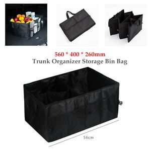 Trunk Cargo Organizer Folding Caddy Storage Bag Bin Auto Car Truck SUV Universal