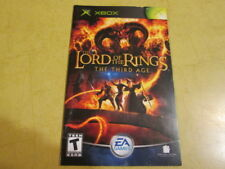 X BOX  INSTRUCTION  BOOKLET FOR  LORD OF THE RINGS the third age GAME