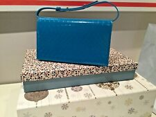 New Paul Smith No9  Patent Leather Handbag Blue, New With dust Bag