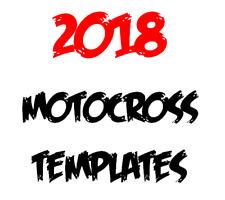 Motocross 2018 decals vector graphics templates KTM Honda Kawasaki Yamaha Suzuki