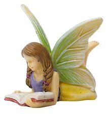 Miniature Dollhouse FAIRY GARDEN - Reading Fairy - Accessories