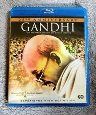 RARE 25TH ANNIVERSARY GANDHI 2-DISC BLU-RAY - BEN KINGSLEY PROTEST USA SELLER
