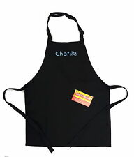 Kitchen and Dining Apron in Black for Children
