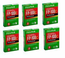6 PACKS '' Fujifilm-Fuji-FP-100C-Instant-Color-Film-10-Exposures EXP'  2019 ''