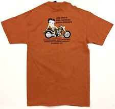 NEW Harley Davidson Men's M Orange Betty Boop Ride For A Cure Cancer Shirt NWT