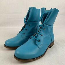 Deerberg Women's Shoes Ankle Boots Blue Leather Casual Comfort EUR 37 US 6 UK 4