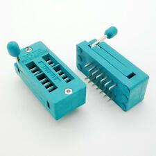 2pcs 14 Pin Socket/adaptor solder Universal ZIF Test DIP IC