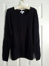 Kim Rogers Size L True Black Long Textured Sweater