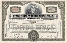 VINTAGE BLACK TELEPHONE STOCK BOND CERTIFICATE IN EXC. COND.