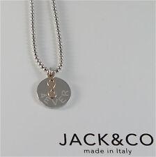 COLLAR GRANO DE DE PLATA 925 JACK&CO CON INFINITO DE ORO ROSA 9KT JCN0548