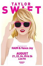 Taylor Swift, Haim & Vance Joy at the Staples Center Gig Concert Poster