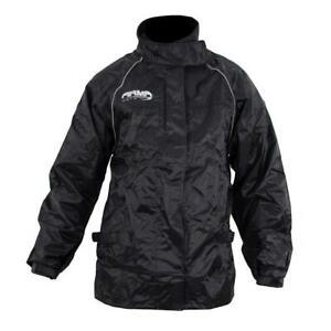 ARMR Moto Rainwear All Season Waterproof Windproof Motorcycle Over Jacket Black