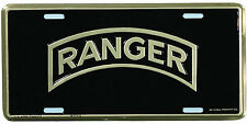 US ARMY RANGER HIGH QUALITY METAL LICENSE PLATE - MADE IN THE USA!