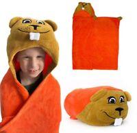 """Oregon State Beavers Huggable Hooded Blanket Mascot - Orange 47x36"""" OSU Plush"""